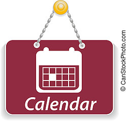Shopping sign board with icons calendar