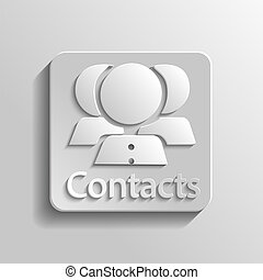 Icon contacts - Icon gray contacts with shadow