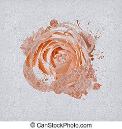 Vintage Background Design with rose