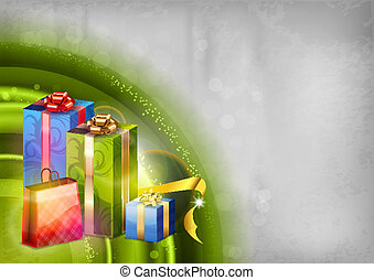 green abstract gifts