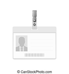 Blank badge - Blank horizontal badge on white background...