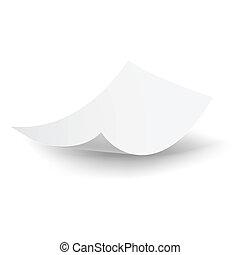 Falling paper sheet - Blank paper sheet falling down...
