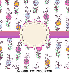 Background with flowers - Decorative background with flowers...