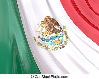Mexico Flag - Glossy Flag of Mexico.