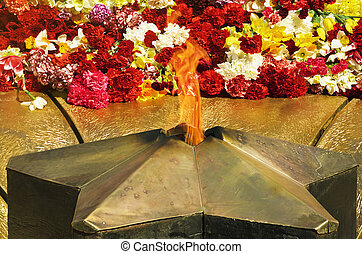 The Eternal Flame Memorializing Losses During The Fight...