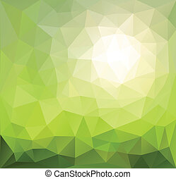Abstract background green, sunny vector design.