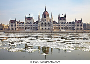 Parliament - The parliament building, Budapest, Hungary in...
