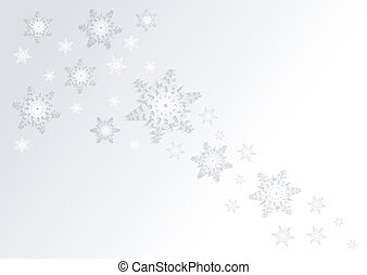 Snowflakes background - Illustration of abstract Christmas...