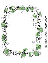 Floral frame - Illustration of abstract floral frame