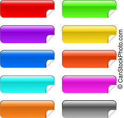 Glossy stickies in different colours