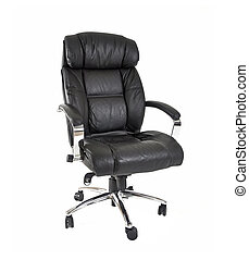 Executive chair on white background