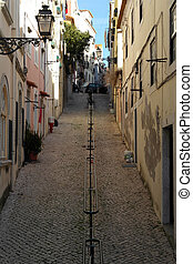 Detail of a street, Lisbon, Portugal