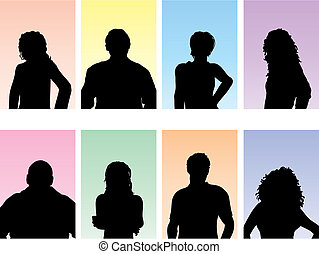 People avatars  - Avatar silhouettes