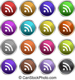 Rss symbols - Glossy RSS icons