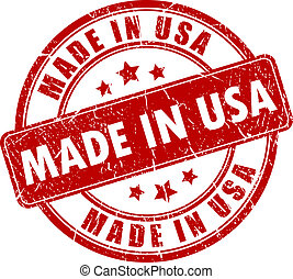 Made in USA stamp isolated on white