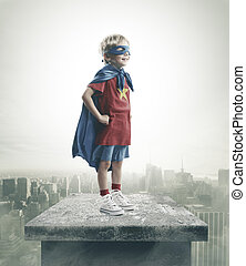 Superhero - A young boy dreams of becoming a superhero