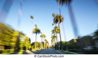 Beverly Hills Driving - Driving through beverly hills in...