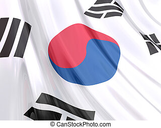 Korea Flag - Glossy Flag of Korea.