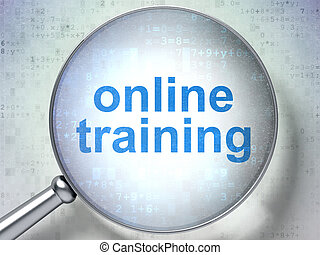Education concept: Online Training with optical glass -...