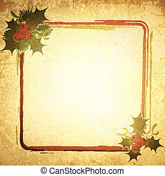 Vintage Christmas Frame - Christmas Decorative Frame at...