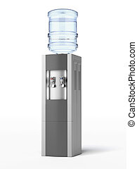 modern water cooler isolated on a white background. 3d...