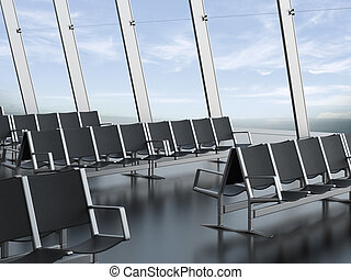 Seats at the airport