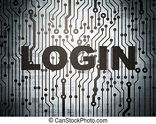 Safety concept: circuit board with Login