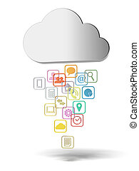 Cloud computing with icons