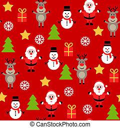 Seamless cute christmas pattern