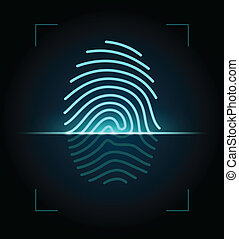 Fingerprint scanner illustration - Fingerprint...
