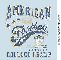 american football college - football vector for shirt...