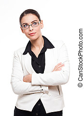 Attractive young businesswoman.
