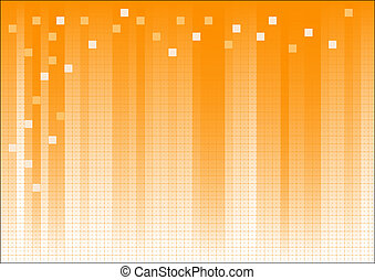 Orange Fading Business Graphic with dots and suqares...