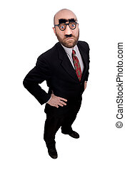 Businessman with nose and glasses - Businessman with joke...