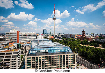 Berlin from above - aerial view of the center of Berlin