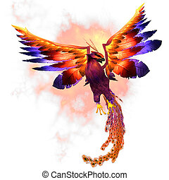 Phoenix Rising - The Phoenix firebird is a mythical symbol...