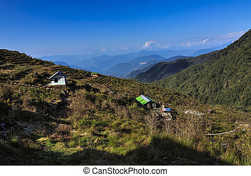 Valley in morning, Sikkim - Valley of Dzuluk Village in...