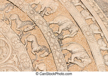 Ground carving as moonstone relief - Moonstone relief is...