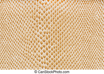 Beige artificial leather snake texture background