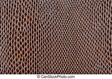 Brown artificial leather snake texture background