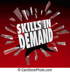 Skills in Demand 3D Words Needed Experience - Skills in...