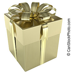 Gift - Concept of christmas, wedding and birthday.