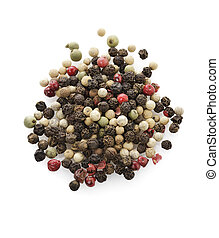 Peppercorn,Close Up On White Background