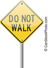 Do now walk sign