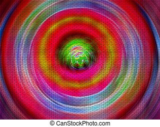 Beautiful color swirl - A beautiful and superb color swirl.