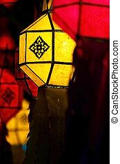 Yee Peng Festival - Chiang Mai - 17 November: Colorful...