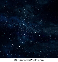 starry background - planet earth in the starry...