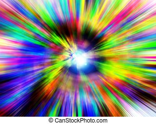 Blur splash - An abstract colors exploding happily
