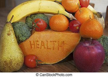 food of the health - concept of the health and wellness with...