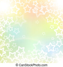 Holidays background, stars and soft colors - Abstract...